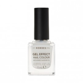 Korres Βερνίκι Νυχιών Gel Effect Nail Colour No.02 Porcelain White 11ml