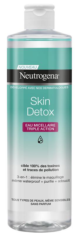 Neutrogena® Skin Detox 3 σε 1 Micellar Νερό καθαρισμού, 400ml