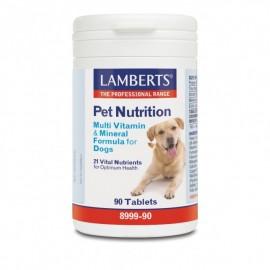 Lamberts Pet Nutrition Multi Vitamin & Mineral Formula For Dogs, Συμπληρωματική Ζωοτροφή για Σκύλους με Βιταμίνες, Μέταλλα & Ιχνοστοιχεία, 90 ταμπλέτες (8990-90)