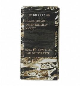KORRES Eau de Toilette Black Sugar, Oriental Lily & Violet Γυναικείο Άρωμα 50ml