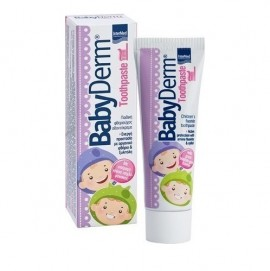 Intermed Καθημερινή παιδική φθοριούχος οδοντόκρεμα με Γεύση Τσιχλόφουσκα, Babyderm Toothpaste Bubble-Gum Flavour, 50ml