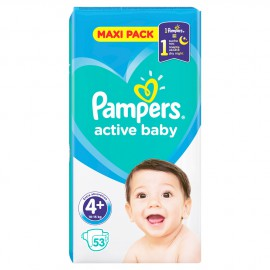 Pampers Active Baby Maxi Pack No.4+ (10-15kg) 53τμχ