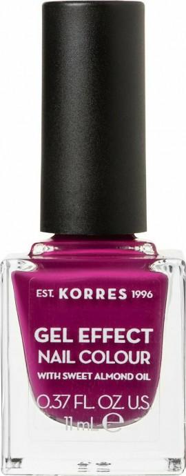 Korres Gel Effect Nail Colour No.72 Cherry Brandy Rose Βερνίκι Νυχιών, 11ml