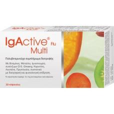 Igactive Flu Multi Vitamin Πολυβιταμινούχο συμπλήρωμα διατροφής 30 κάψουλες