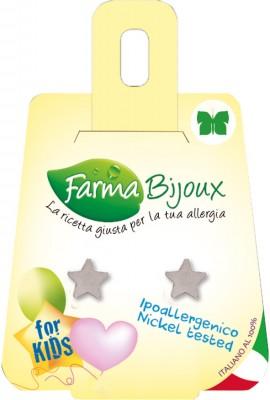 Farma Bijoux Σκουλαρίκια Ασημί Αστέρι 8mm, 1 Ζευγάρι