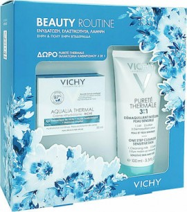 Vichy Πακέτο Προσφοράς Beauty Routine με Aqualia Thermal Rehydrating Rich Cream Πλούσια Κρέμα για 48ωρη Eνυδάτωση για Ξηρή / Πολύ Ξηρή Επιδερμίδα, 50ml & Δώρο Purete Thermale 3 in 1 Γαλάκτωμα Καθαρισμού, 100ml