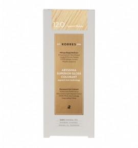 Korres Abyssinia Superior Gloss Colorant Μόνιμη Βαφή Μαλλιών 12.0 Special Blonde 50ml
