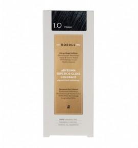 Korres Abyssinia Superior Gloss Colorant Μόνιμη Βαφή Μαλλιών 1.0 Μαύρο 50ml