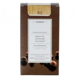 Korres Argan Oil Advanced Colorant Μόνιμη Βαφή Μαλλιών 9.0 Κατάξανθο Φυσικό 50ml
