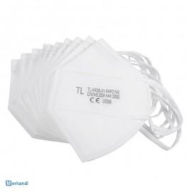 Μάσκα FFP2 KN 95 N95 NR, Χωρίς Βαλβίδα, Face Mask Λευκή, 1 τεμάχιο