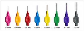 TePe Μεσοδόντια Βουρτσάκια Nο0 0.4mm Φούξια 8τμχ