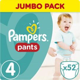 Pampers Pants Jumbo Pack No.4 (Maxi) 8-15 kg Βρεφικές Πάνες Βρακάκι, 52 τεμάχια