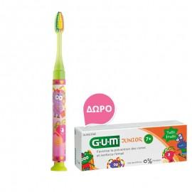 Gum Set Junior Light-Up Yellow Soft Οδοντόβουρτσα + Δώρο Junior Οδοντόκρεμα 7-12 Ετών Tutti Frutti 50ml