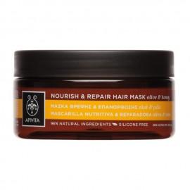 Apivita Μάσκα Θρέψης & Επανόρθωσης Μαλλιών με Ελιά & Μέλι, Nourish & Repair Hair Mask Olive & Honey 200ml