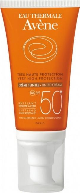 Avene Solaire Creme Teintee SPF50+, Αντηλιακή Κρέμα Προσώπου με Χρώμα για Ξηρό/Πολύ Ξηρό Δέρμα, 50ml