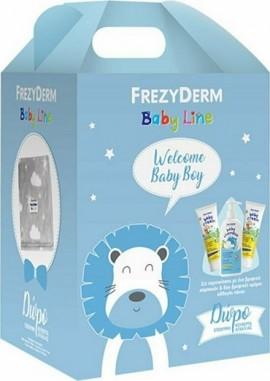 Frezyderm Πακέτο Προσφοράς Baby Line για Αγόρι με Baby Shampoo Βρεφικό Σαμπουάν, 300ml & Baby Cream Κρέμα για την Αλλαγή Πάνας, 2x175ml & Δώρο Κουβέρτα Αγκαλιάς 75x110εκ