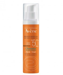 Avene Sunscreen Cleanance Unifying Tinted SPF50+ Αντηλιακό Προσώπου με Χρώμα για Λιπαρό & με Τάση Ακμής Επιδερμίδα, 50ml