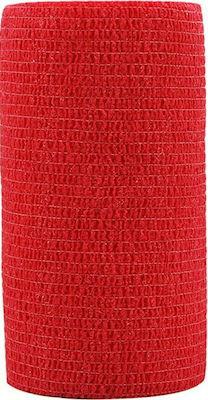 Hansaplast Cohesive Bandage Red Αυτοκόλλητος και πολυχρηστικός επίδεσμος, 6cmx4m