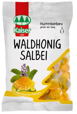 Kaiser Waldhonig Salbei Καραμέλες για τον Ερεθισμένο Λαιμό & το Βήχα με Φασκόμηλο & Μέλι, 75gr