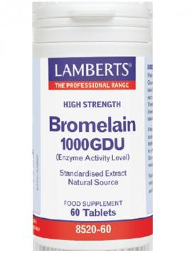 Lamberts Bromelain 1250GDU 500mg Μπρομελαΐνη για την Υγεία των Αρθρώσεων & την Υποβοήθηση της Πέψης, 60tabs
