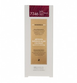 Korres Abyssinia Superior Gloss Colorant Μόνιμη Βαφή Μαλλιών 77.46 Ξανθό Έντονο Κόκκινο - Χάλκινο 50ml