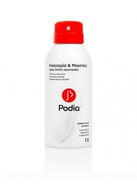 PODIA Athetes Foot DeoSpray Spray Διπλής Προστασίας για Κακοσμία & Μύκητες 150ml