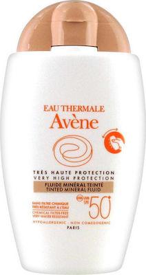 Avene Solaire Fluide Mineral Teinte - Αντηλιακή Προσώπου με Χρώμα για Ευαίσθητο Δέρμα SPF50+ 40ml