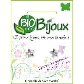 Farma Bijoux Σκουλαρίκια Διάφανο Αστέρι Μικρό 5mm, 1 Ζευγάρι
