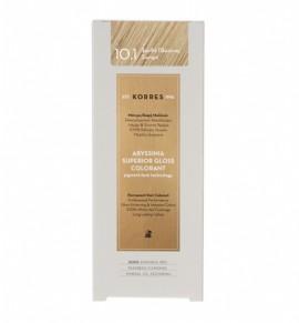 Korres Abyssinia Superior Gloss Colorant Μόνιμη Βαφή Μαλλιών 10.1 Ξανθό Πλατίνας Σαντρέ 50ml