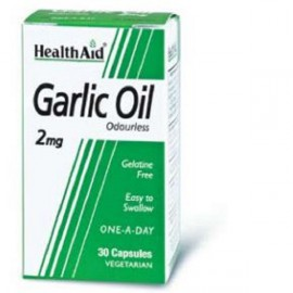 HEALTH AID GARLIC OIL 2MG ODOURLESS VEGETARIAN CAPSULES 30S