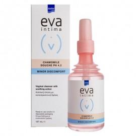 Intermed Eva Intima Douche Chamomile pH 4.2, Κολπική Πλύση με Χαμομήλι για Άμεσο Καθαρισμό, Αντιφλογιστική & Καταπραϋντική Δράση, 147ml
