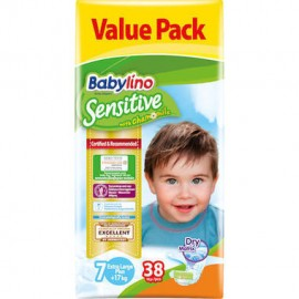 BABYLINO Sensitive Extra Large Plus No7 (17+kg) - 38 πάνες