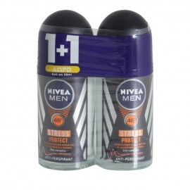 Nivea Αποσμητικό Roll On Men Stress Protect 48h 50ml 1+1 Δώρο