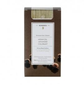 Korres Argan Oil Advanced Colorant Μόνιμη Βαφή Μαλλιών 8.1 Ξανθό Ανοιχτό Σαντρέ 50ml