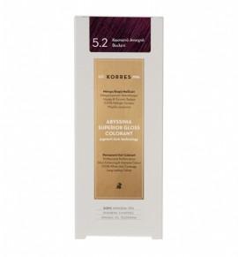 Korres Abyssinia Superior Gloss Colorant Μόνιμη Βαφή Μαλλιών 5.2 Καστανό Ανοιχτό Βιολετί 50ml