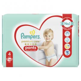 Pampers Pants Premium Care Πάνες Βρακάκι No4 (9-15Kg), 38 Πάνες-Βρακάκι