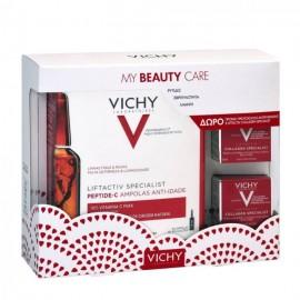 Vichy My Beauty Care Promo Liftactiv Specialist Αμπούλες για Αντιγηραντική Δράση, 30τμχ x 1.8ml & Liftactiv Collagen Specialist Κρέμα Προσώπου, 2 x 15ml