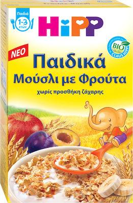 Hipp Bio Παιδικά Μούσλι με Φρούτα Χωρίς Ζάχαρη 1-3 Ετών, 200gr
