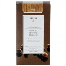 Korres Argan Oil Advanced Colorant Μόνιμη Βαφή Μαλλιών 7.7 Μόκα 50ml