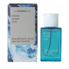 Korres Water Cedar & Lime Eau de Toilette 50ml
