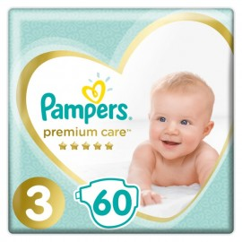 Pampers Premium Care Jumbo Pack No.3 6-10 kg Βρεφικές Πάνες, 60 τεμάχια