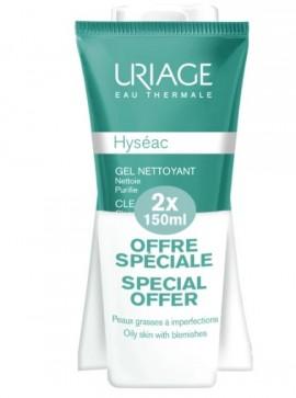 Uriage Πακέτο Προσφοράς Hyseac Gel Nettoyant 2x150ml
