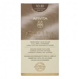 Apivita Βαφή Μαλλιών 10.81 My Color Elixir Κit Μόνιμη Κατάξανθο Περλέ Σαντρέ