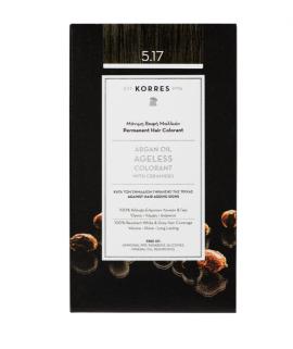 Korres Argan Oil Ageless Colorant Μόνιμη Βαφή Μαλλιών 5.17 Καστανό Ανοικτό Σκούρο Μπέζ 50ml
