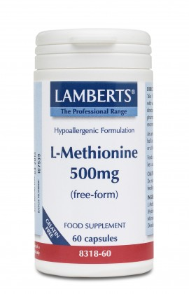 Lamberts L-Methionine 500μg, 60 caps 8318-60