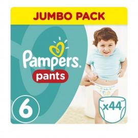 Pampers Pants Jumbo Pack No.6 (Extra Large) 15+kg Βρεφικές Πάνες Βρακάκι, 44 τεμάχια