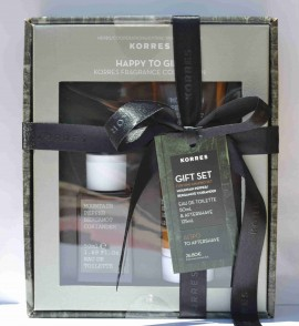 Korres Gift Set με Άρωμα Mountain Pepper, Bergamot & Coriander 50ml & Δώρο το Aftershave Balm 125ml
