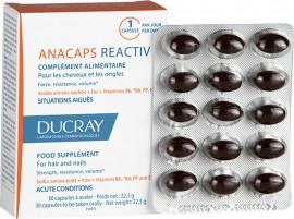 Ducray Anacaps Reactiv Συμπλήρωμα Διατροφής κατά της αντιδραστικής Τριχόπτωσης, 30 caps