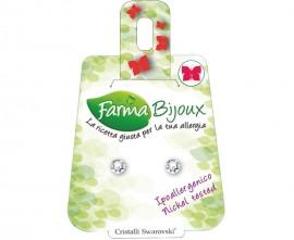 Farma Bijoux Σκουλαρίκια με Kρύσταλλο Swarovski® 4.1mm, 1 Ζευγάρι