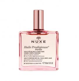 Nuxe Huile Prodigieuse Florale, Ξηρό Λάδι Ενυδάτωσης με Άρωμα Λουλουδιών, 50ml